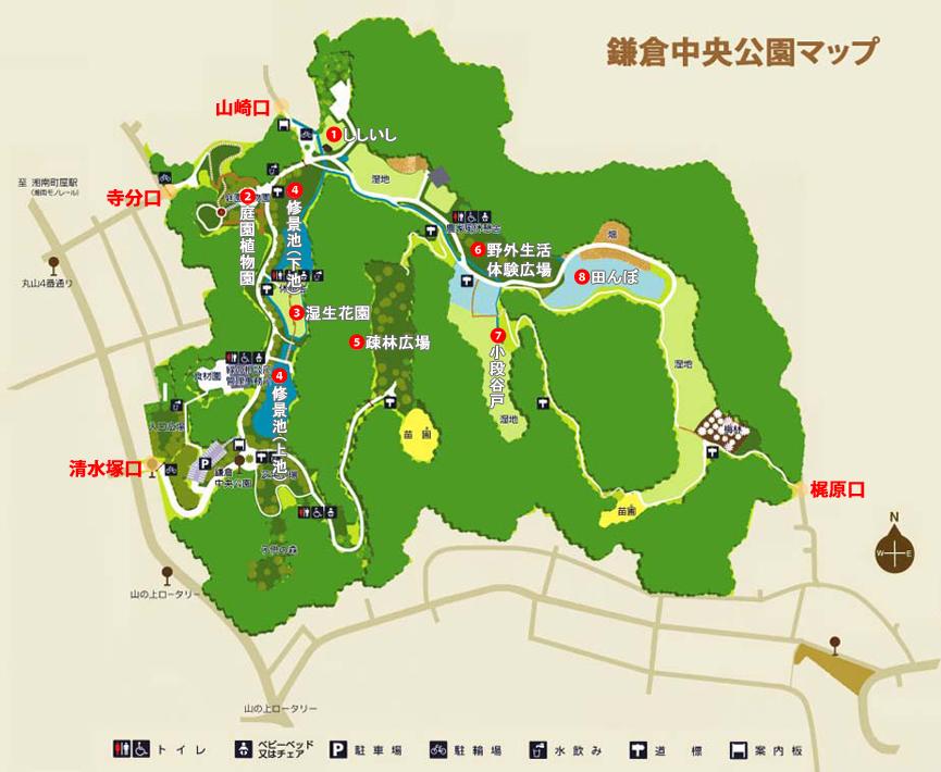 鎌倉中央公園マップ